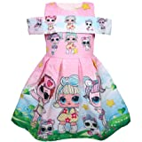 Vannie Surprise Dolls Girls Dress Cartoon Short Sleeve Skirt Lovely Princess Dress for Party Parade Birthday Gifts 3~8 Years