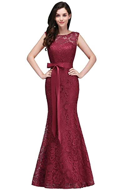 Babyonlinedress Lace Mermaid Evening Dress Women Formal Long Prom