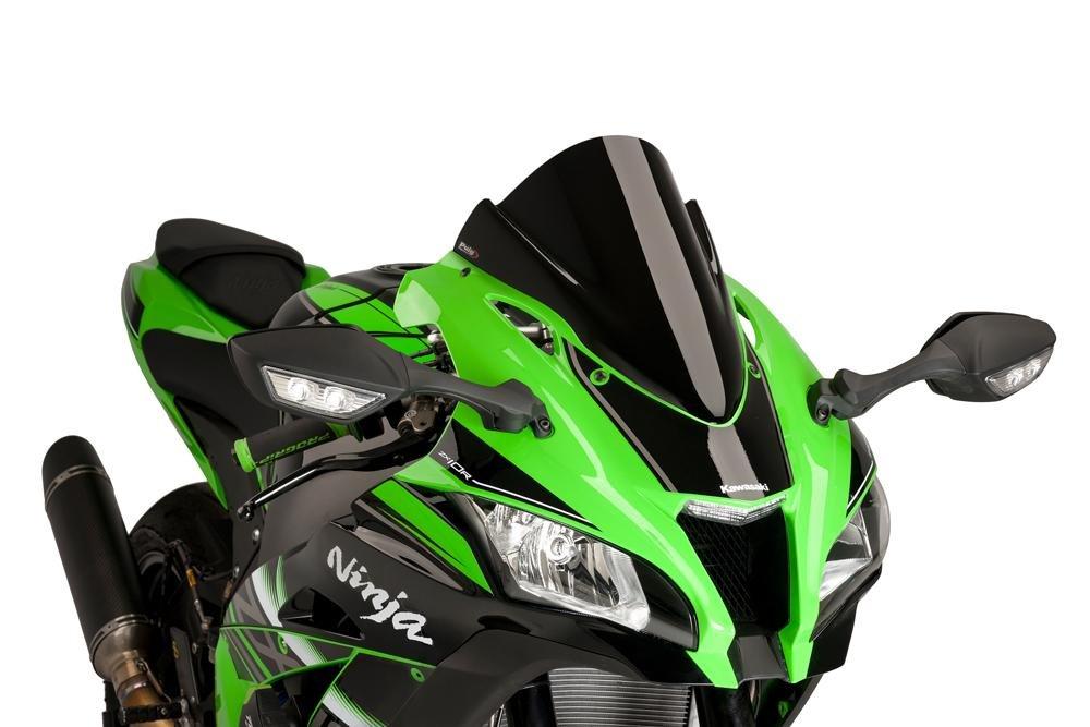 16-18 KAWASAKI ZX10R: Puig Racing Windscreen (BLACK)