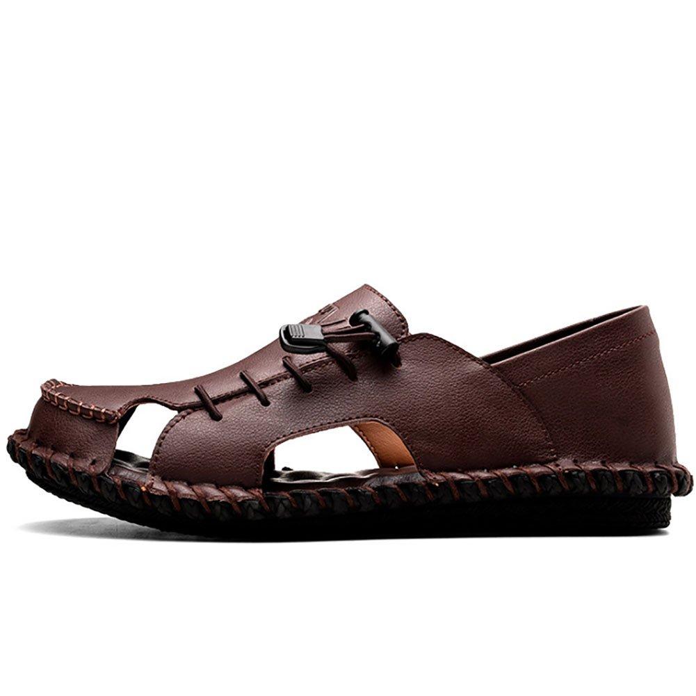 QSYUAN Men Es Hundert Schuhes Sommer New Leisure Hundert Es Erbsen Schuhe Pedal Comfort Atmungsaktive Rutschfeste Verschleiss Resistente Lazy Schuhes Und Beach Schuhes,Braun,42 - 2b9a91