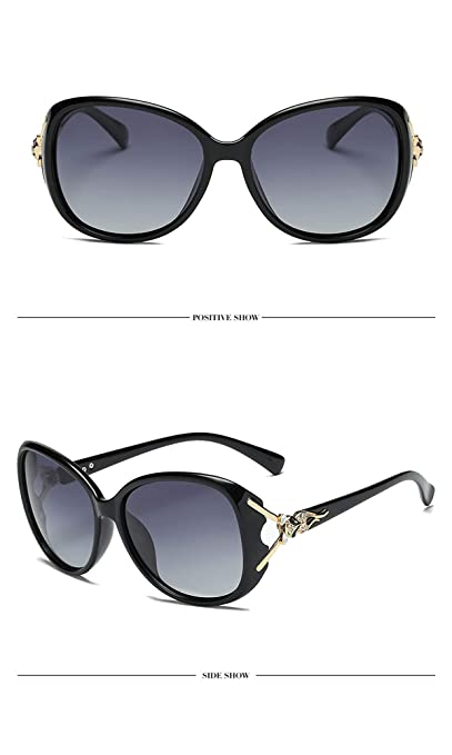 Amazon.com: Gafas de sol clásicas polarizadas de gran tamaño ...