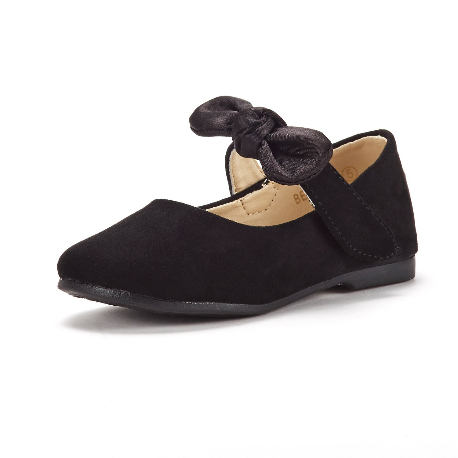 DREAM PAIRS Toddler Belle_02 Black Girl's Mary Jane Ballerina Flat Shoes Size 4 M US Toddler