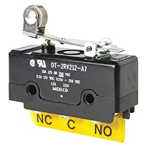Honeywell - DT-2RV212-A7-10A @ 240V Hinge, Lever Industrial Snap Action Switch; Series DT