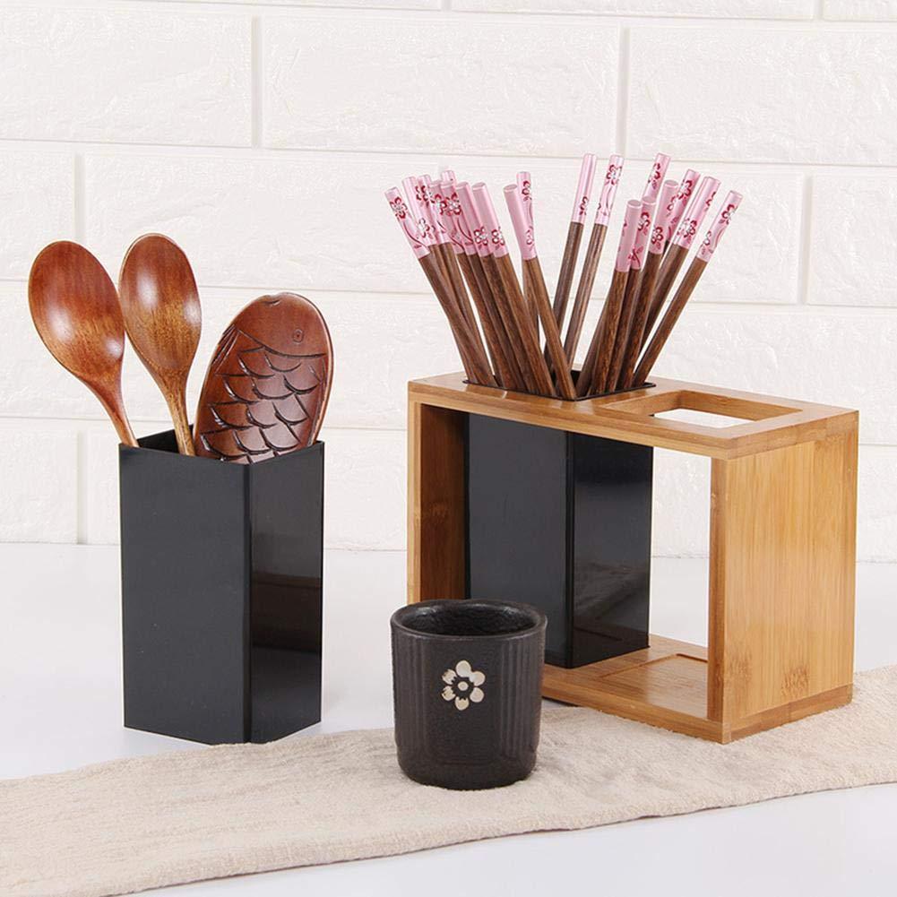 Knowled Cutlery Holder Multifunctional Bamboo Chopsticks Storage Box Tableware Storage Box Drain Chopsticks Stand Chopsticks Cutlery Partition Storage Box Cutlery Holder