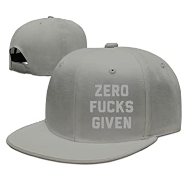 736fc220a8f Zero Fucks Given Graphic-Print Snapback Hats at Amazon Men s Clothing store