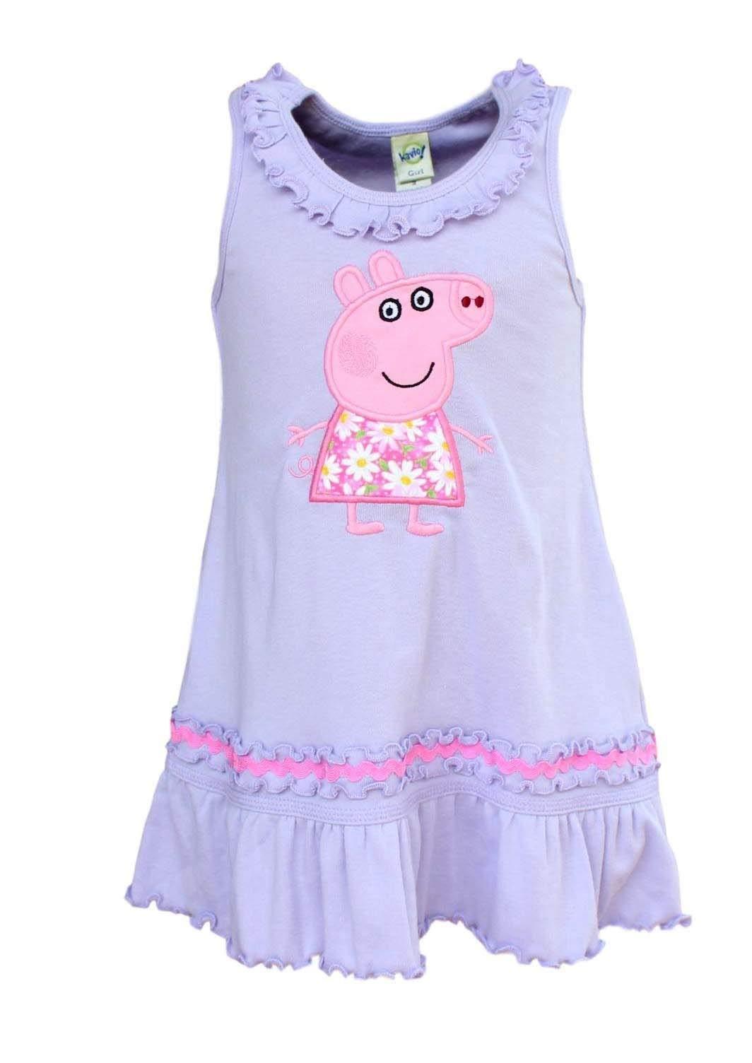 Girls Peppa Pig Girls Double Raw Edge Tiered Dress