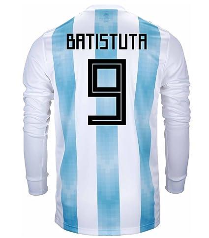 504b60164 Amazon.com   adidas BATISTUTA  9 Argentina Official Men s Home Long ...