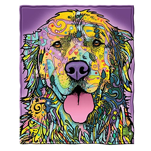 Dean Russo Golden Retriever Fleece Throw Blanket