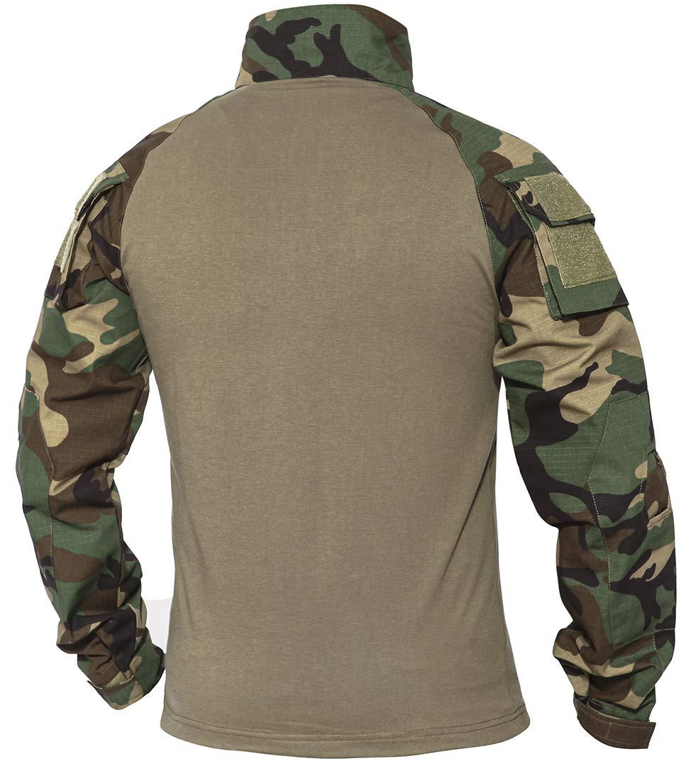 XKTTAC Herren Taktisches Hemd Outdoor Shirt Kampfshirt f/ür Milit/är und Airsoft