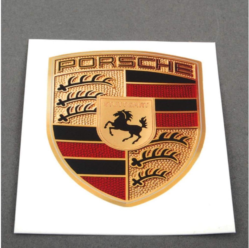 Original Porsche Emblem Wappen Logo Aufkleber Klebeschild 6 5x5cm Wap013005 Auto
