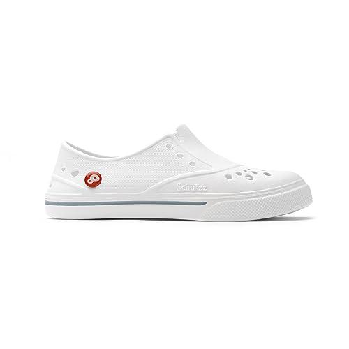 info pour 4282f aaa43 Schu'zz Chaussure de Travail Femme Sneaker'zz Blanc & Gris - Infirmière  hopital