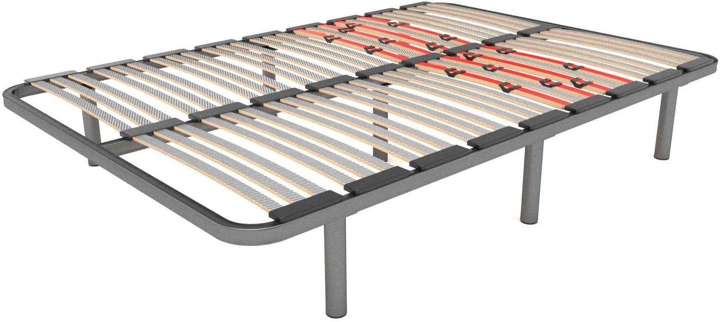 LA WEB DEL COLCHON Somier Multiláminas Regulador (*) 140 x 200 x 5 cms. (7 Patas Incluidas)