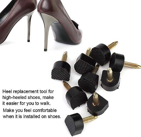 Fenteer 20pcs Embouts Pour Talons Aiguilles Embouts de Rechange Pour Talons Aiguilles Chevilles de Rechange Pour Chaussures /à Talons Hauts Escarpins