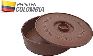 IMUSA USA MEXI-1000-TORTW Tortilla Warmer Terracota 8.5-Inch, Light Brown Brick Color