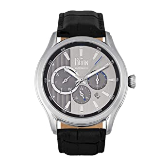 f0bf9858e Reign Watch Analogue Display and Leather Strap REIRN1501_black:  Amazon.co.uk: Watches