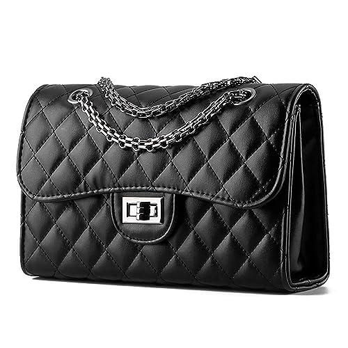 Young & Ming Mujeres Mini Bolsos bandolera Bolso de cuero Women Handbag con cadena de metal