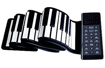 Piano Portatil Flexible De 88 Teclas Espesar Con Teclado Suave Plegable, Micrófono Conectable Instrumento De Piano Electrónico Para Principiantes Y Niños ...