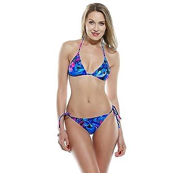 ZMJY Bikini, Traje de baño de Mujer Cintura Alta con Cuello ...