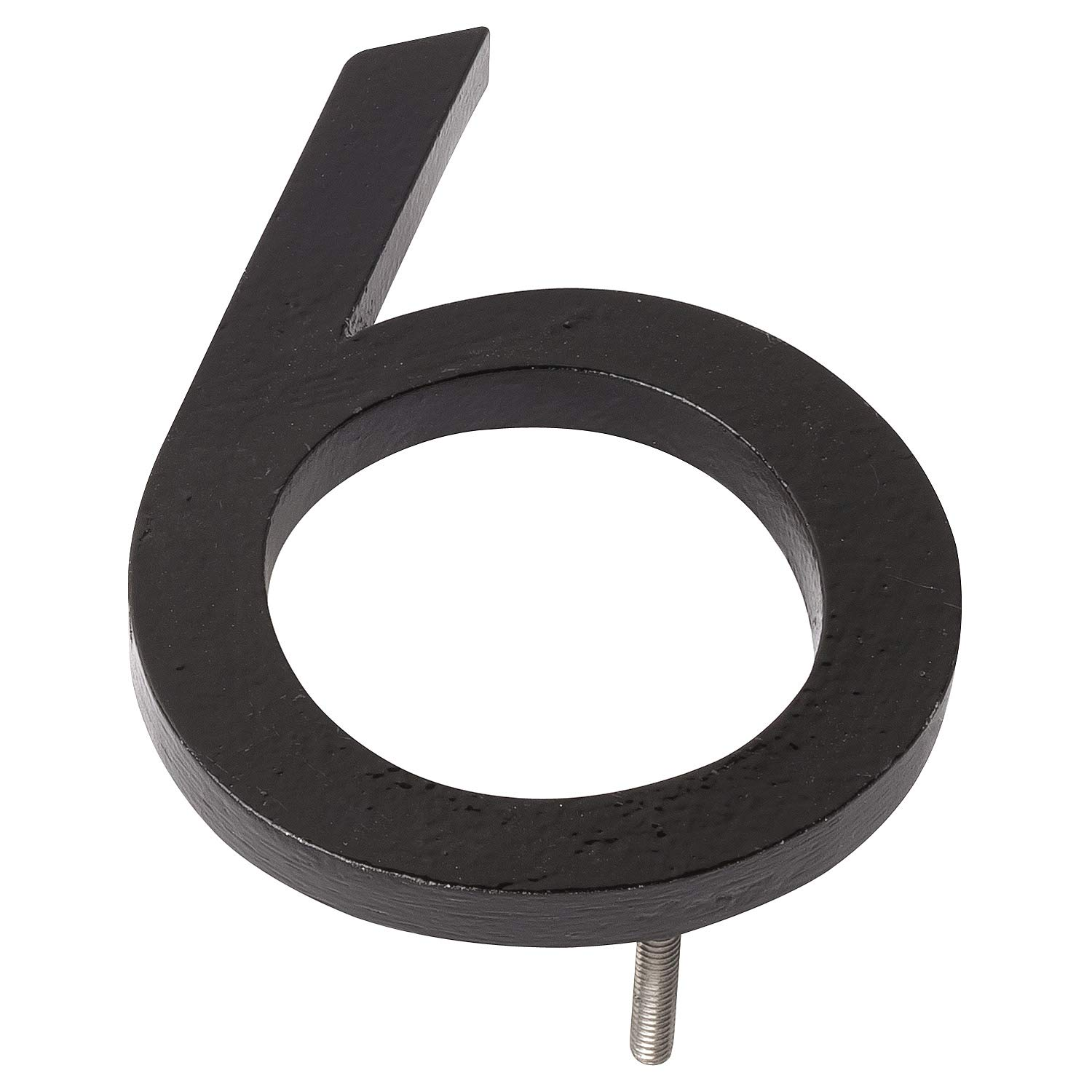 Montague Metal Products MHN-08-6-F-BK1 Floating House Number, 8'' x 5.81'' x 0.375'' Black