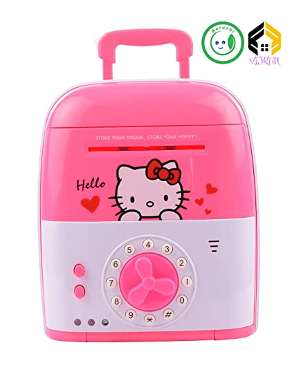 Aarushi Money Safe For Kids With Smart Electronic Lock Piggy Bank For Coin/Bills  Print