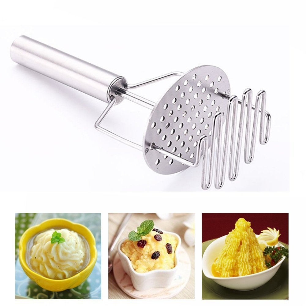 Potato Masher Stainless Steel Potatoes Food Masher