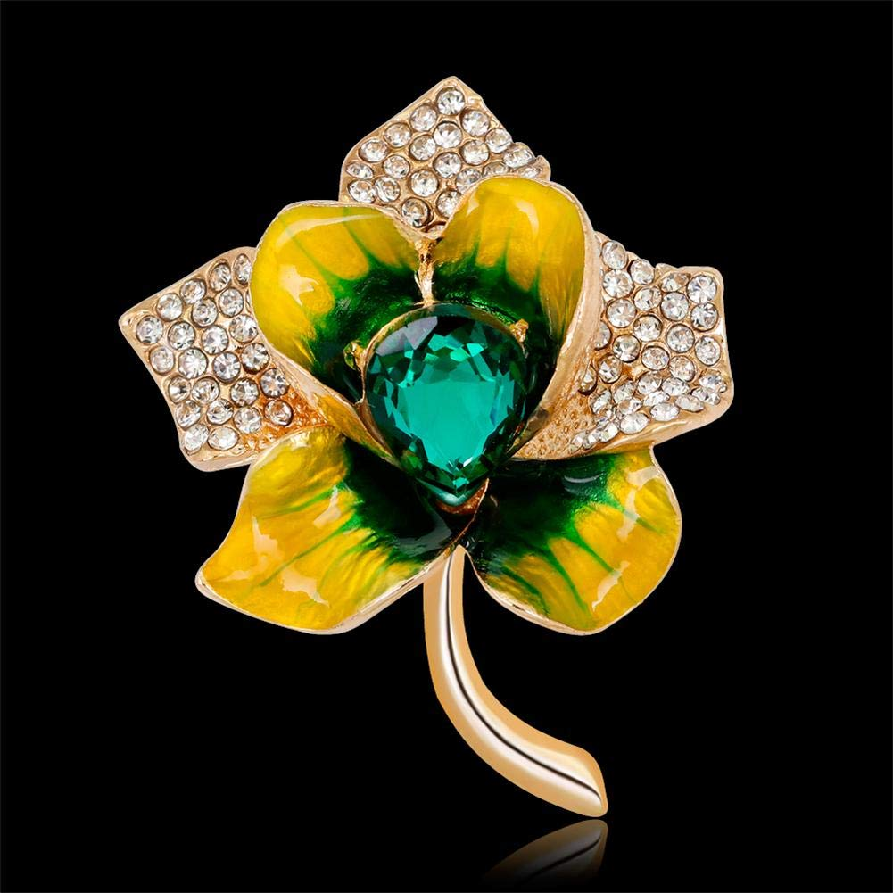 UEB Broche Bijoux Femme /él/égantes Plantes Costume Vintage Diamant Pins Insigne Bijoux Cadeau Contemporaine Broche Pins Vintage Fantaisie Accessoires Mariage