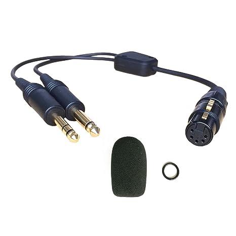 f2f3438678a UFQ Aviation headset AB-GA Airbus XLR to GA dual plugs Pilot Headset  Adapter 5