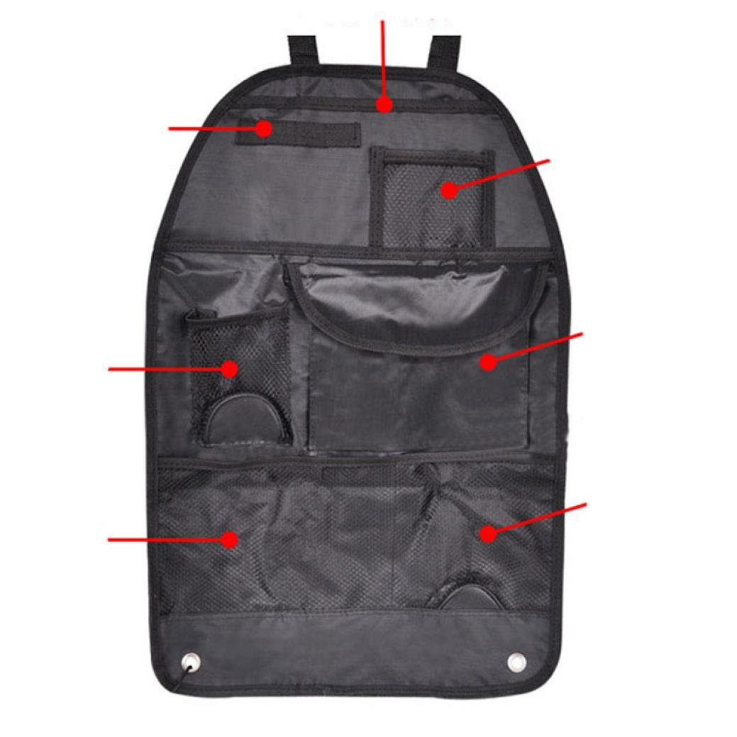 Autocare Nylon Car Seat Organiser 4 Pocket Storeage