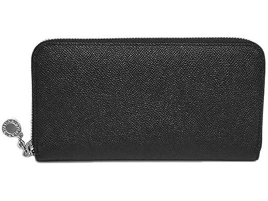 f75715159ccc Amazon   ブルガリ 財布 20886 BVLGARI ラウンドファスナー長財布 ブルガリボタン グレインレザー ブラック シルバー金具  [並行輸入品]   BVLGARI(ブルガリ)   財布