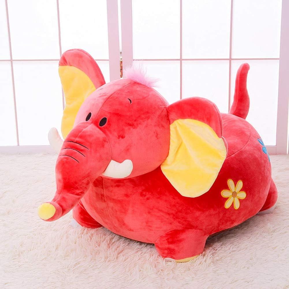 WAYERTY Children Sofa, Kid Sofa Cartoon Animal Lazy Couch Plush Toy Upholstered Baby Stool Birthday Gift Kid Chair-red 45x45x40cm(18x18x16inch)