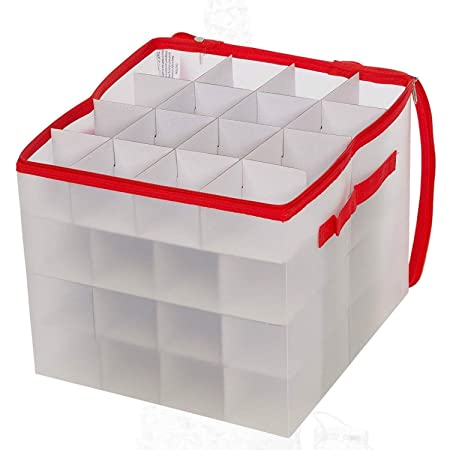 christmas bauble decorations storage box holds 64 baubles