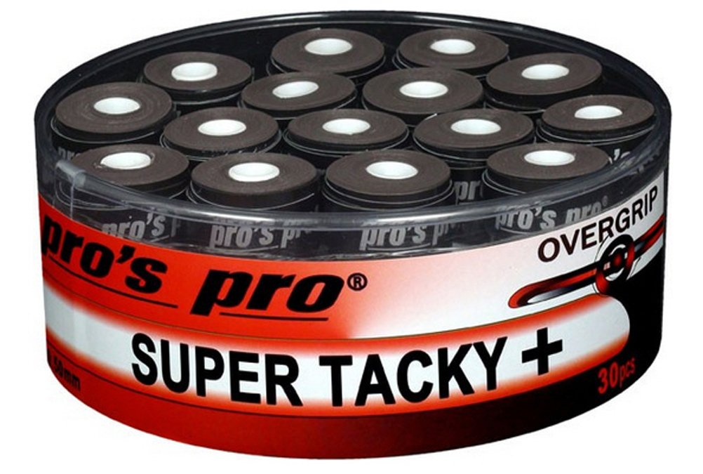 30 Overgrip Super Tacky Tape tennis grips black Pro G0273b