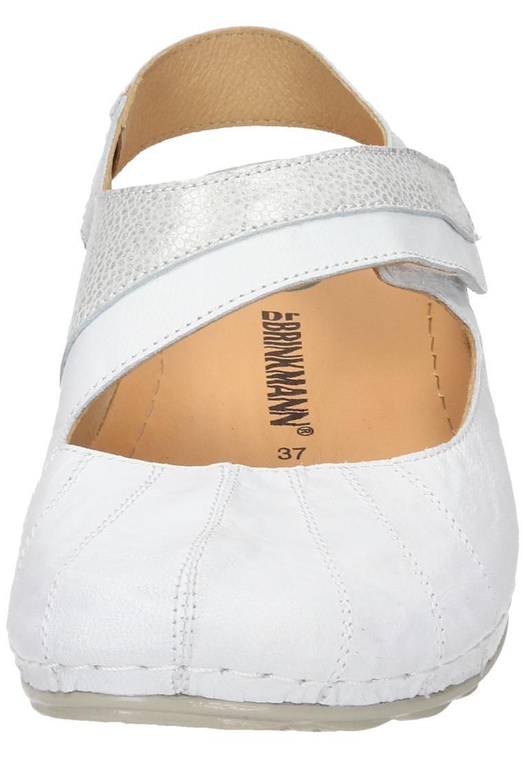 Dr. Dr. Dr. Brinkmann Damen Sandale Weiß f2b9d3