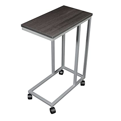 The Austin C Table/End Table/Laptop Stand, Zebra Wood Finish Laminate Top