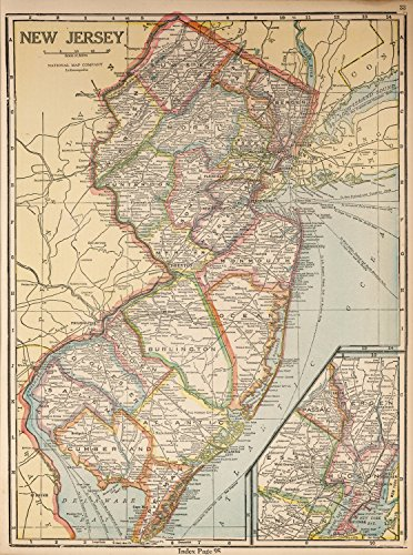 "Map Poster - New Jersey - 24""x18"""