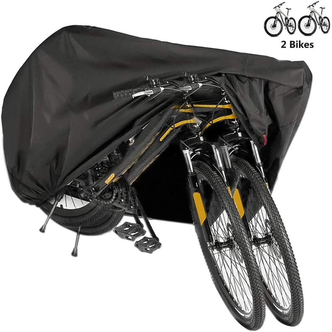 BICASLOVE Funda Bicicleta, Nylón 210D Anti Polvo Resistente al Agua a Prueba de UV Cubierta Bicicleta para Bicicleta de Montaña y Bicicleta de Carretera