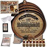 Personalized Whiskey Making Kit (102) - Create Your Own Tennessee Bourbon Whiskey - The Outlaw Kit from Skeeter's Reserve Outlaw Gear - MADE BY American Oak Barrel - (Oak, Black Hoops, 5 Liter)