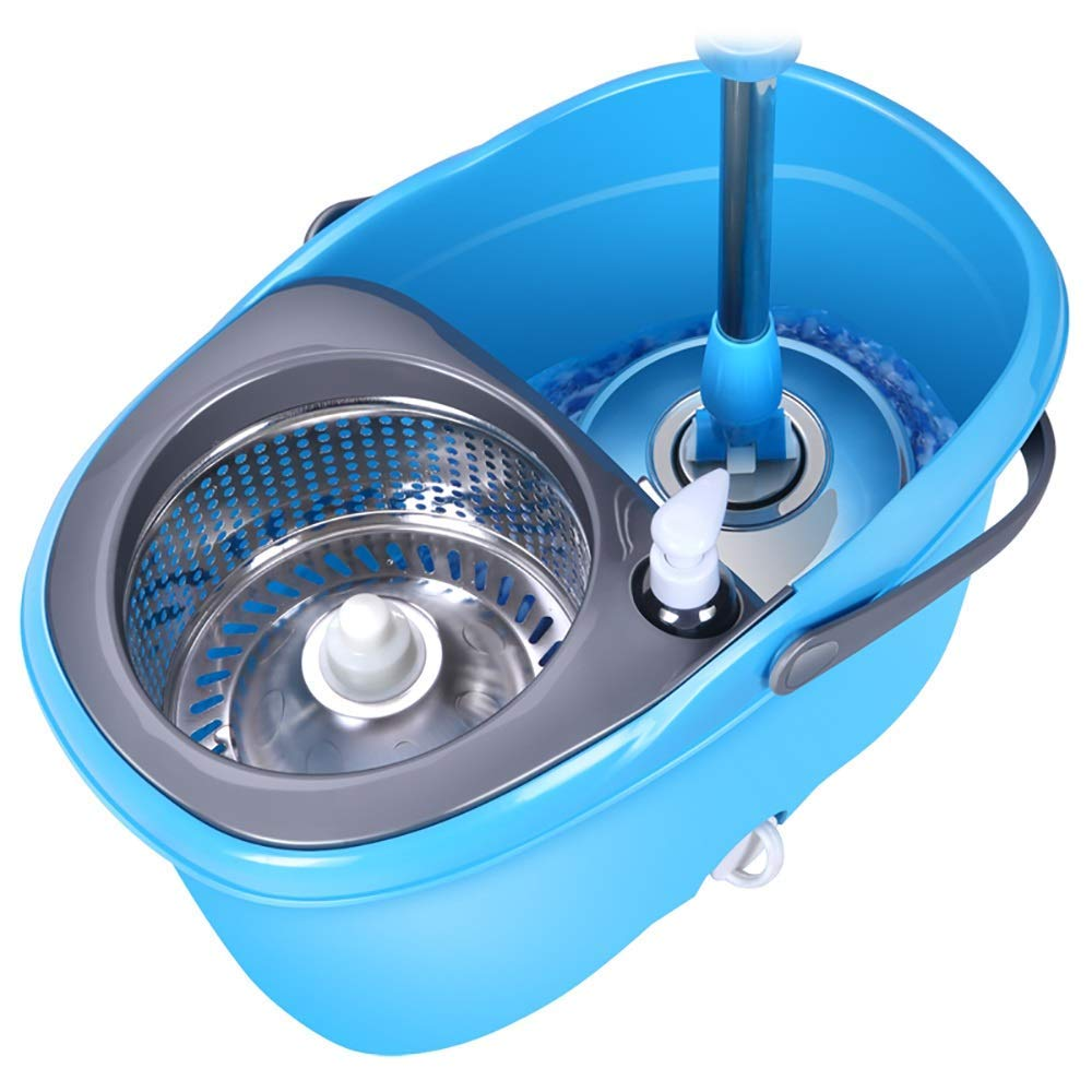 Rotary Mop - Automatic Stainless Steel Mop Good God No Handle Wash Trailer Household Mop Bucket,Plastic4mopheads by Hongsheng (Image #1)