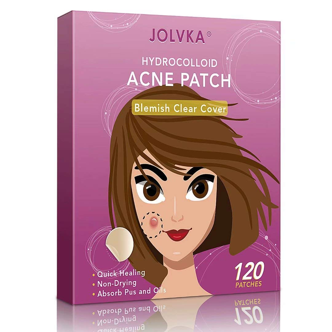 Acne Pimple Patch (120 Patches), Absorbing Hydrocolloid Spot Dots Treatment Master, Tea Tree Oil by JOLVKA