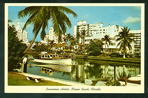 HOTELS COLLINS FL Ave from Indian Creek MIAMI BEACH Boat Canal Florida - Creek Collin Stores
