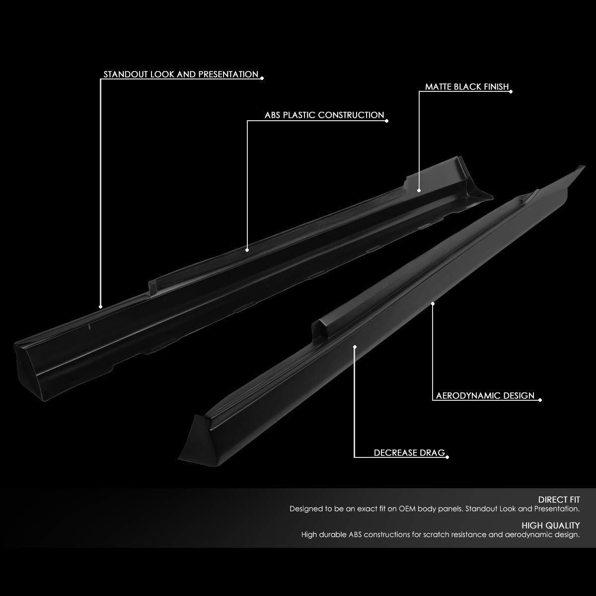 DNA Motoring BPLIP-0005 Pair Side Skirts Panel Extension Body Kit