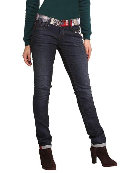 DESIGUAL Mujer Diseñador Top Jeans Pantalones - LINDA ...