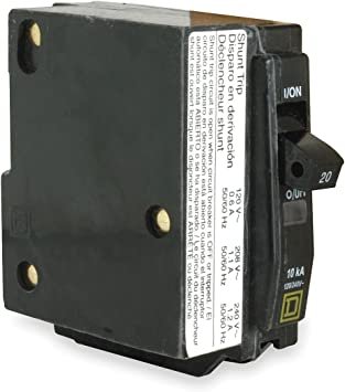 Square D 30 Amp Shunt Trip Circuit Breaker Type QO 1 Pole New Free Shipping