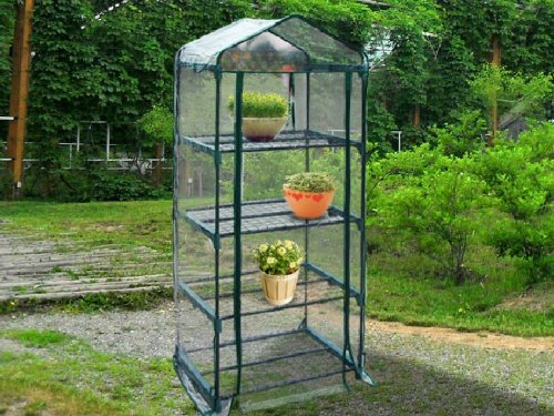 Superbe This Mini Greenhouse Offers 4 Shelves Of Storage Capacity In A Compact  Design That Is Ideal For Use In Gardens, On Lawns, Or Even On Patios And  Balconies.