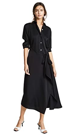 f2caa9a96bb Amazon.com  Vince Women s Tie Front Shirtdress  Clothing
