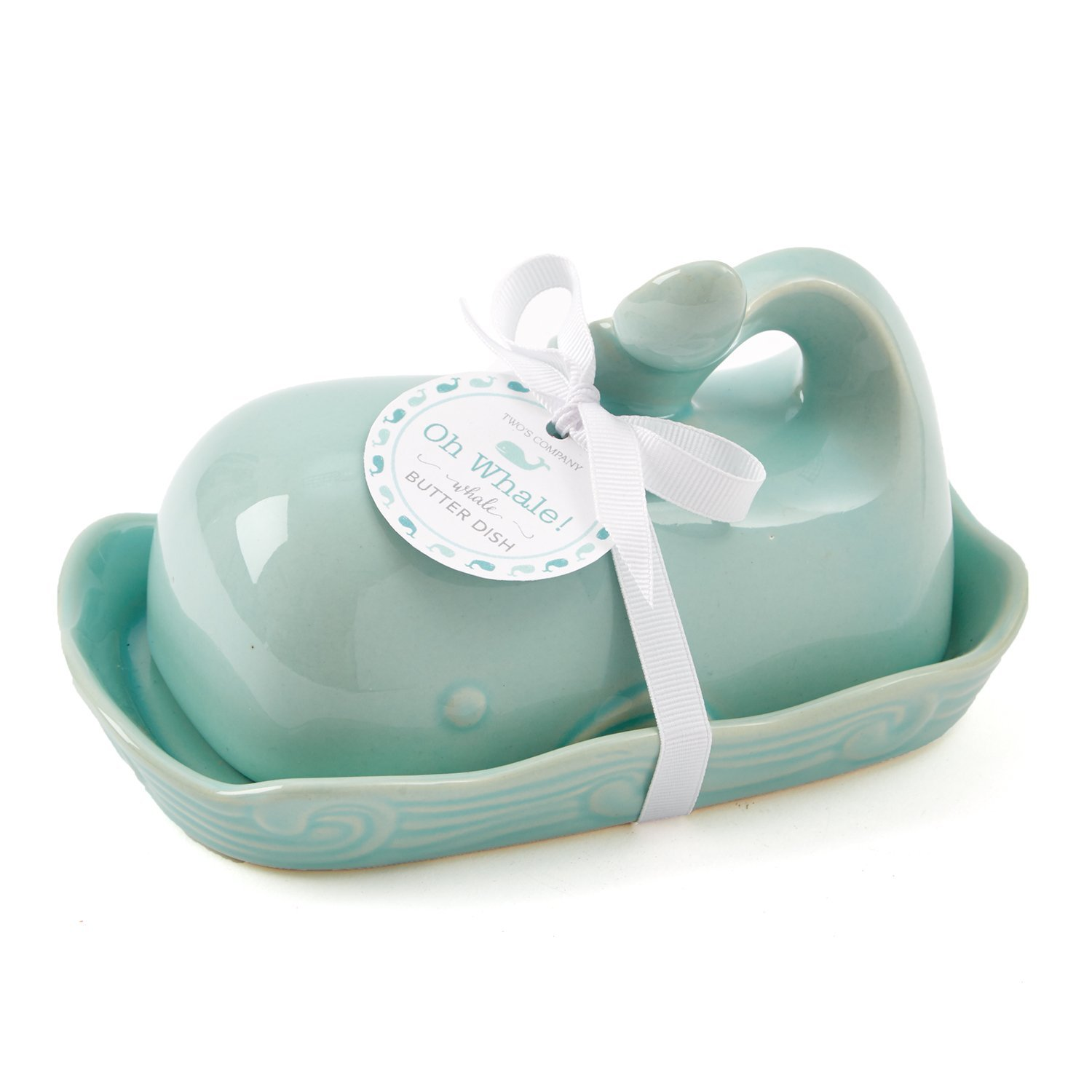 WHALE SHAPED BUTTER DISH in Duck Egg Blue Ceramic - Kitchen Home ...