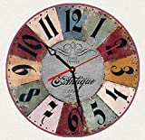 """SofiClock Vintage Wall Clock 12"""" With Arabic Numerals, Best Wooden Decor"""