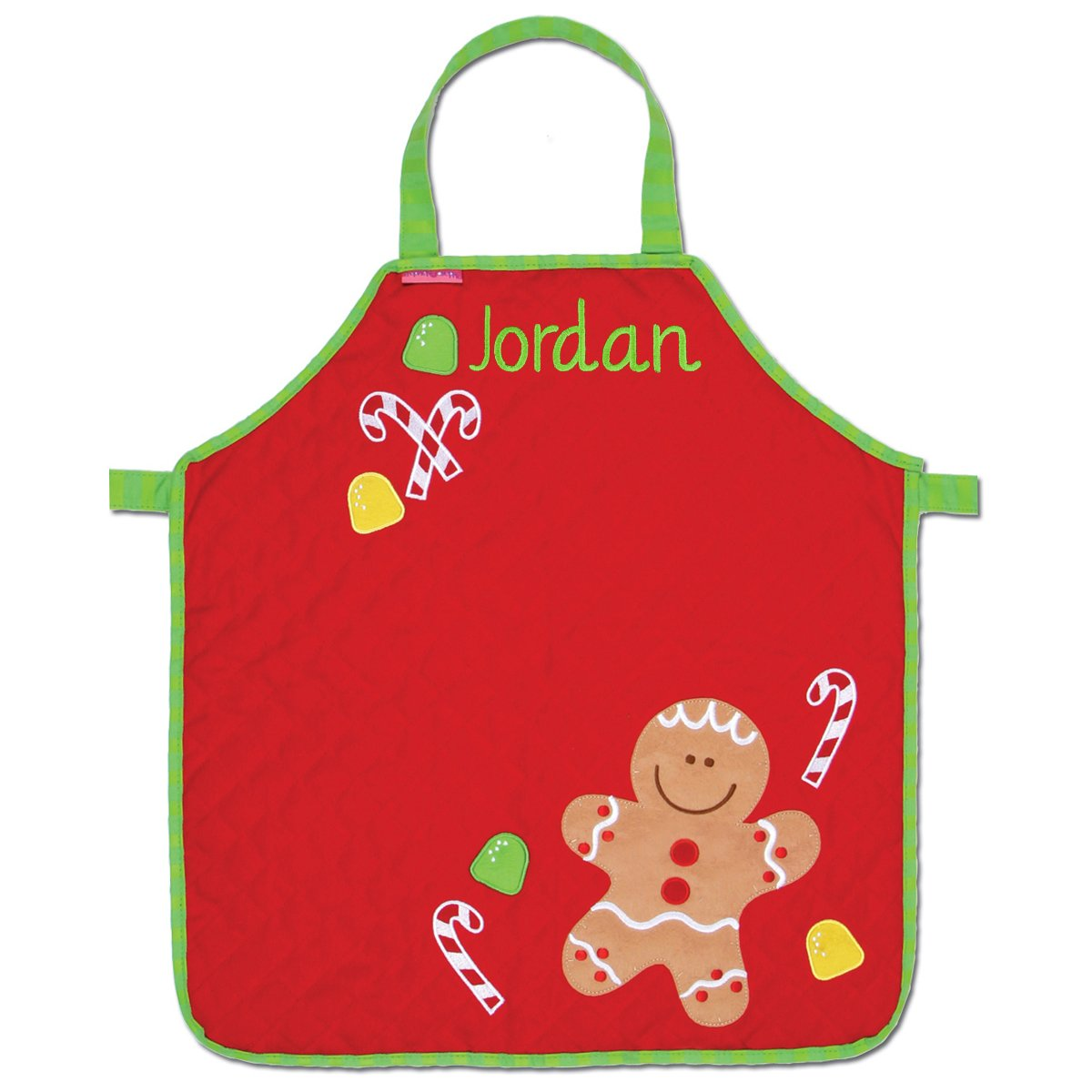 Personalized Stephen Joseph Quilted Gingerbread Apron with Embroidered Name