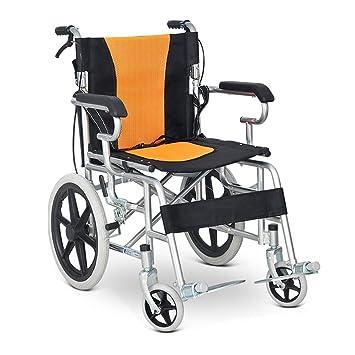 Silla de ruedas FANJIANI Plegable Multifuncional para los Ancianos Carro portátil Trasero Plegable