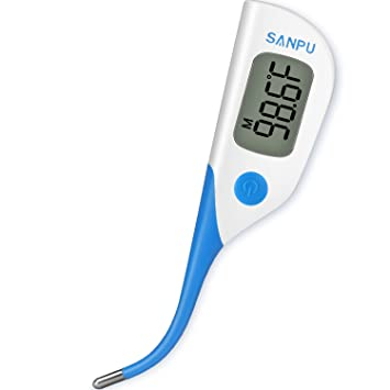 Clinical Thermometer Digital Medical Oral Rectal and Armpit Thermometer for Baby and Adult, Fast 8
